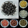 Silver Rose Gold Pewter Gunmetal Plated Round Spacer Beads Jewelry Findings