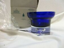 Partylite Cobalt Blue Ball Candle Holder P7225 Fast Shipping