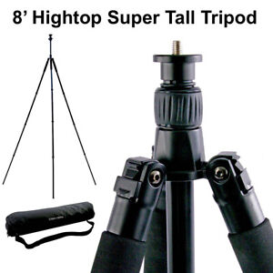 8FT Aluminum Tripod PLUS Monopod Foldable with Ball Head, GoPro & iPhone Adapter