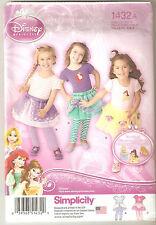 Simplicity Sewing Pattern 1432 Toddler's Disney Princess Tutu & Leggings 6mth-4