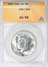 1967 KENNEDY HALF DOLLAR 50c ANACS AU58