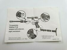 Megatron G1 Decepticon Leader Transformer Box Instruction Part Only [MBIP75]