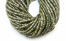 """Top Quality 16"""" Long Dark Olive Green Zircon Faceted Rondelle Beads Wholesale"""