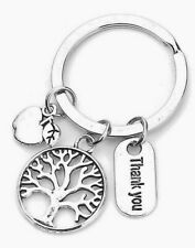 TEACHER THANK YOU KEY RING WITH ATTACHED CHARMS~School~Key Fob~Key Chain (50B)UK