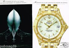Publicité advertising 1995 (2 pages) Montre Breitling Perpetual Sirius