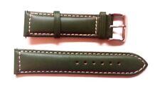 Italian Leather Green Stitched Sports Strap 18mm FITS POLJOT + SNK805 SEIKO