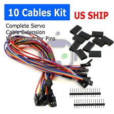 10Pcs Servo Extension Lead Wire Cable For RC Futaba JR Male to Female 30cm N204