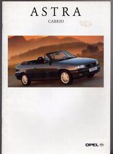 Opel Astra Cabriolet 1994-95 German Market Sales Brochure 1.6 1.8 16v