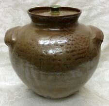J. B. Cole, North Carolina Art Pottery, Lidded Double Handle Storage Jar