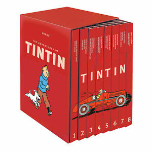 Adventures Of Tintin The Complete 8 Books Box Set Hardback Pack By  Herge