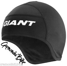 GIANT berretta sottocasco nera cuffia bici paraorecchie skull bike cap termica