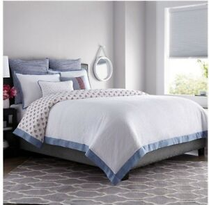 Real Simple French Riviera King Duvet Cover, White