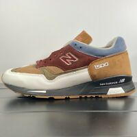 Mens New Balance M1500BWB Burgundy Brown Cream Made In England Size 8