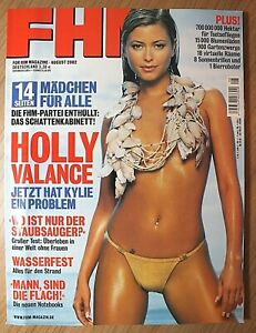 FHM 8/ 2002, August, Eva Habermann, Johnny Cash, Willem Dafoe, Holly Valance