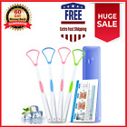 4 Tongue Scraper Cleaner Adults Kids Oral Hygiene Product Dental Care Bad Breath