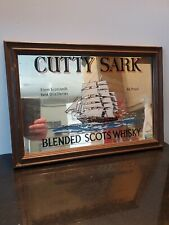 Vintage Retro Cutty Sark Mirror Picture Small Size Used