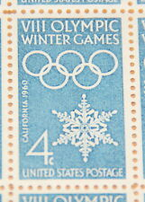 1960 sheet 8th Olympic Winter Games, Sc# 1146