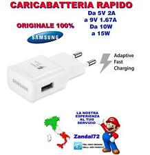 CARICABATTERIA RAPIDO ORIGINALE SAMSUNG GALAXY S6 S7 EDGE NOTE 5 FAST CHARGING