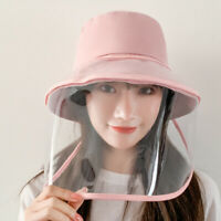 Protective Face Shield Anti saliva Sun Visor Fisherman Cap Hat Shield Removable