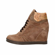 scarpe donna 1°CLASSE ALVIERO MARTINI 36 sneakers beige camoscio pelle AF284-B
