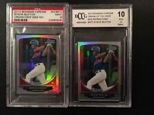 2-2013 Bowman Chrome Byron Buxton Rookie Mini Refractor Lot PSA 9 BCCG 10