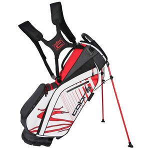 NEW Cobra Ultralight Black/High Risk Red/White 5-Way Stand Golf Bag