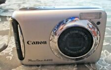 Canon PowerShot A495 10.0Mp Digital Camera w/ Box, Cd & Cord - Silver
