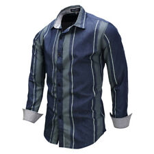 New Men's Cotton Striped Formal Casual Business Slim Stylish Dress Shirts AT6395