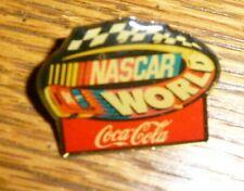 NASCAR WORLD Coca Cola Hat Pin Souvenr