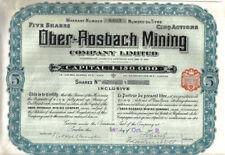 Historische deutsche Bergbau- & Minen-Wertpapiere