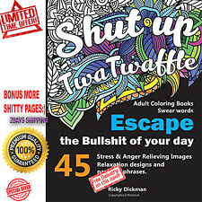 Adult Coloring Book Swear Word Angry Sex Shit Cuss Curse Anger Brutal Fuck Rude
