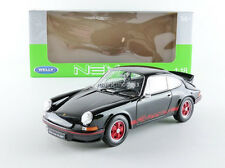 Welly 1973 Porsche 911 Carrera RS Black with Red Stripe 1/18 Scale New Release!