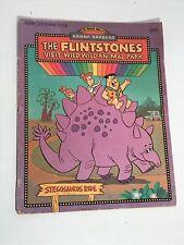 Flintstones visit wild wild animal park giant coloring book 1970's Hanna Barbera