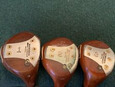 Set of 3 MacGregor Tommy Armour Persimmon Woods Jimmy Demaret Model - Refinished