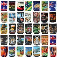 Stubby Holder Stubbie Can Beer Bottle Drink Cooler Australia Flag Funny Souvenir