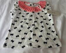 FRENCH CONNECTION Designer Girls Sz 18Mths pretty top w/pleated neck - NWT