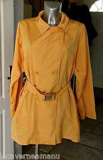 luxurious trench yellow woman MARELLA size 42 MINT