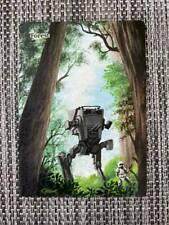 Star Wars Forest MTG Magic Custom Hand Painted Altered Full Extended Art <(((-<