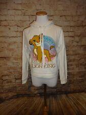Lion King White Simba Hoodie Sweatshirt Juniors SZ S/M Hooded Top