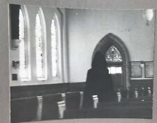 Haunted Church Paranormal Large Strange Vintage art photo Hooded Figure
