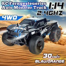 4WD 2.4G RC Ferngesteuertes Auto 1:14 Monster Truck Geländewagen Offroad Kinder
