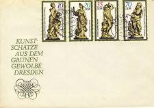 Ersttagsbrief DDR MiNr. 2905 I-2908 I, Grünes Gewölbe Dresden: Kunstwerke