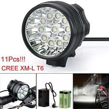 28000LM 11 x CREE XM-L T6 LED 8 18650 Bicicleta Ciclismo Ligero Impermeable Luz