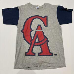 Vintage Starter MLB California Angels 1994 Giant Logo 2-Sided Graphic Shirt - M