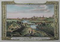Dublin - Seltene Stadtansicht von G.A. Baldwyn - Originaler Kupferstich 1794