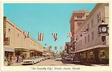 Central Avenue in Downtown Winter Haven FL Postcard