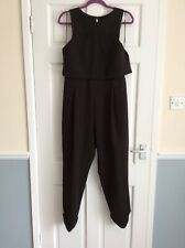 River Island Pants Suit That Size 14 Black Mesh On The Belly