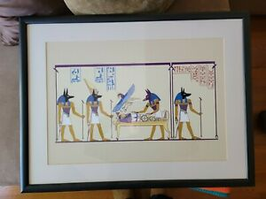 ANUBIS ART PRINT (FRAMED) ( GREAT CONDITION)
