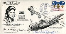 WW2 US Navy ace David McCampbell 3rd highest scoring ace signed cover