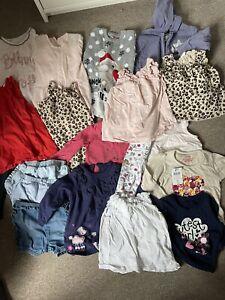 Large Baby Girl 9-12 Month Bundle H&M Tops Vest Jumpsuit